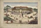 Guckkastenbild: Schloss Sanssouci von Norden