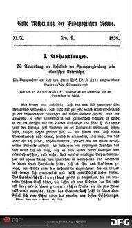 Die Anwendung der Resultate der Sprachvergleichung beim lateinischen Unterrichte: mit Bezugnahme auf das von Herrn Prof. Dr. J. Frei umgearbeitete Grotesend'sche Elementarbuch
