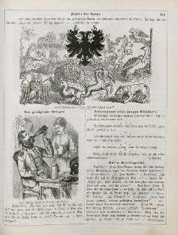 """Fliegende Blätter: """"Fehler der Natur"""" """"Der genügsame Krieger"""""""