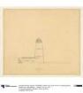 Potsdam, Einsteinturm, Ideenskizze, Observatorium und astrologisches Institut. Skizze des Aufrisses einer Seite