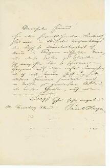 Brief von Paul von Heyse