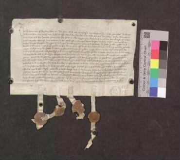 Erhart von Falkenstein, Herr zu Ramstein, und seine Gemahlin Anastasia von Wolfurt, urkunden, daß die Stadt Bräunlingen 100 Gulden abgezahlt hat und zwar an Hans Stähelin, Bürger zu Villingen.
