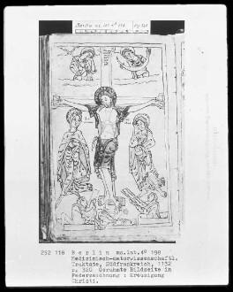 Medizinische Sammelhandschrift — Kreuzigung Christi, Folio 320