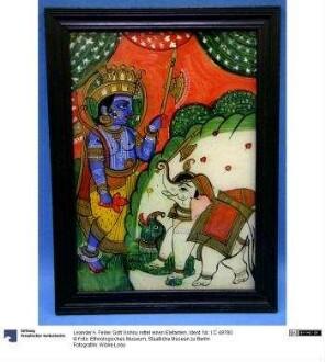 Gott Vishnu rettet einen Elefanten