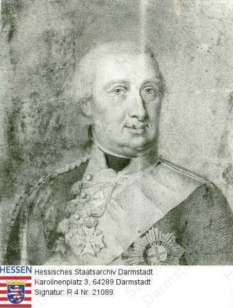 Wilhelm IX. Landgraf v. Hessen-Kassel, 1803 Kurfürst Wilhelm I. (1743-1821) / Porträt, Brustbild