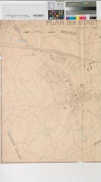 Ahaus (Ahaus) - Stadtplan, mit eingezeichnetem Postgrundstück - ca ...