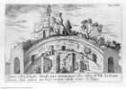 Veteris Latii antiquitatum amplissima collectio: ... Volumen primum. 3 Teile., 1. Teil : Tyburtinorum Rudera, Tafel XVII: Amphiteatri rudera ibid.