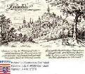 Lindenfels im Odenwald, Panorama / darunter Text eines Gedichtes über Lindenfels