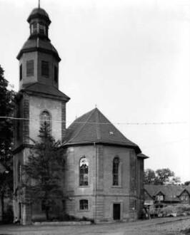 Schlosskirche, historische Aufnahme von 1963
