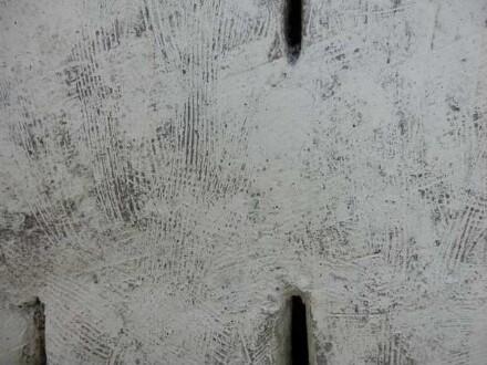 Detail der gebrannten Skulptur