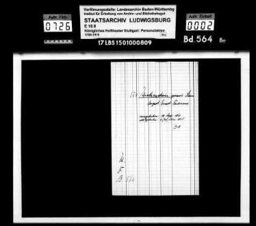 Kratzenstein, August Ernst Ferd. gen. Stein; Hofschauspieler; ausgesch.: 1865