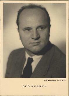 Matzerath, Otto (geb. 26.10.1914 in Düsseldorf, gest. 21.11.1963 in Zama bei Tokio) - Generalmusikdirektor, 1940-1956 am Badischen Staatstheater