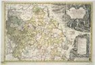 Karte vom Fürstentum Jägerndorf, 1:95 000, Kupferstich, 1736