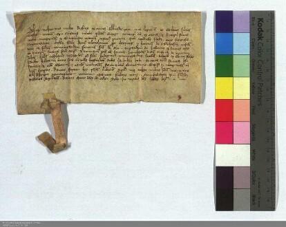 Ritter Wolpert Hobeherr und seine Verwandten genehmigen den Verkauf der Landulhenhube zu Heskem an das deutsche Haus bei Marburg.