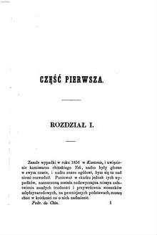 Poselstwo lorda Elgin do Chin i Japonii w latach 1857, 58, 59 : Opisał Wawrzyniec Oliphant. Przekład z angielskiego przez A. z Kr. M. Ozdobione sześcioma rycinami litografowanemi. [James Bruce, 8th Earl of Elgin]. 1,1