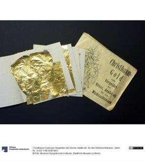 Christbaum-Gold zum Vergolden der Nüsse, Aepfel etc. für den Weihnachtsbaum.