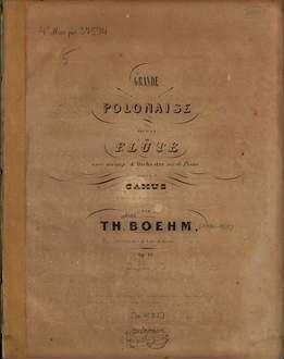 Grande polonaise : pour la flûte avec accomp. d'orchestre ou de piano ; op. 16
