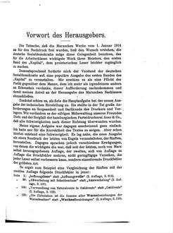 ˜Dasœ Kapital : Kritik der politischen Ökonomie von Karl Marx. Volksausgabe. 1,1