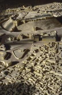 Modell der Stadt Aleppo