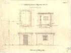 Fischer, Theodor; München; Bayerische Geschützwerke - Wiegehaus (Grundriss, Ansichten, Schnitt)