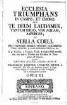 ECCLESIA TRIUMPHANS IN CAMPO, ET CHORO. SEV TE DEUM LAUDAMUS, TANTUM ERGO, VIDI AQUAM, ASPERGES, ET STELLA COELI, PRO OMNIBUS DIEBUS FESTIVIS OCCURRENTIBUS, PRIMITIIS, & ALIIS SOLEMNITATIBUS & c. & c. A 4. Vocibus, 2. Violinis, Violâ, & duplici Basso necessariis, nec non 2. Tromb. aut Cornibus & Tympano ad libitum, QUAM OMNIBUS MUSICES CHORIS APERIT FRANCISCUS JOSEPHUS LEONTIUS MEYER à Schauenseé, ... OPUS III. ... CUM LICENTIA SUPERIORUM
