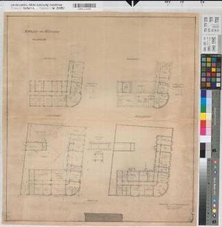 Schwelm (Schwelm) - Posthaus - Grundrisse - 1910 - 1 : 200 - 61 x 56 - Pause - Buddeberg, Postbaurat - Oberpostdirektion Dortmund Nr. 1699