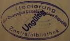 Stempel / Deutschland <DDR> / Regierung / Zentralbibliothek