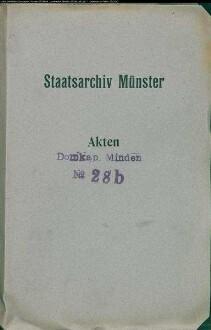 Dechantenwahl, Präbenden, Archiv