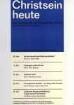 """Plakat nach einem Entwurf von Dieter von Andrian für die Vortragsreihe der Evangelischen Kirchengemeinde Bad Hersfeld """"Christsein heute"""""""