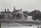 Dresden, Blick vom Garten des Japanischen Palais nach Südosten auf die Altstadt