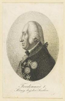 Bildnis Ferdinand I., König beyder Sicilien