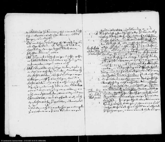 Gutachten der Theologischen Fakultät der Universität Wittenberg für die Landstände des Erzstifts Magdeburg zu einem Edikt des Kurfürsten von Brandenburg vom 16. Sept. 1664