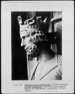 Adamspforte — Linkes Gewände mit dem heiligen Stephanus, Kaiserin Kunigunde und Kaiser Heinrich II. — Kaiser Heinrich II.