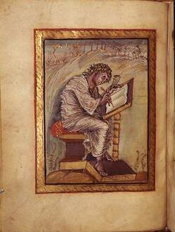 Evangelist Markus — Evangelist Matthäus, Folio 18verso