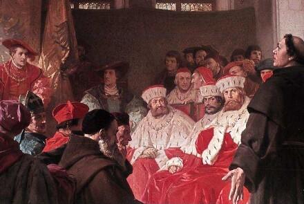 Luther auf dem Reichstag in Worms