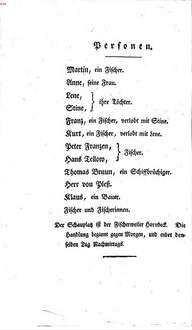 ˜Dieœ Fischer : Ein Singspiel in drey Aufzügen