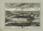 Ansicht der Maschine von Marly (hydraulisches Pumpwerk für die Brunnenanlagen von Versailles), Frankreich, Kupferstich, 1700