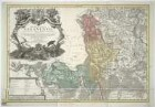 Karte von dem Herzogtum Sagan, 1:110 000, Kupferstich, 1736