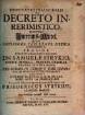 Disputatio Inauguralis De Decreto Inrerimistico, Nostris Interims-Mittel