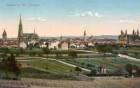 Speyer, Blick etwa von Am Rosensteiner Hang auf die Stadt, hier noch zahlreiche Gartengrundstücke und Wingerte.
