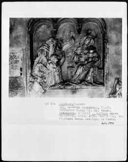 Empfehlung des Stifters durch einen Heiligen an Maria