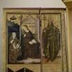 Bosseroder Altar — Altarinnenflügel links - Mariä Verkündigung, Anbetung der Könige und zwei Heilige — Verkündigung der Geburt Christi