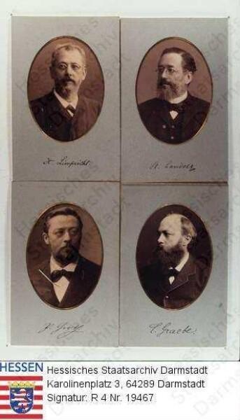Landolt, Hans Heinrich Prof. (1831-1910) / Porträt, in Oval, Brustbild
