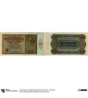 Reichsbank: 100 Billionen Mark 1924
