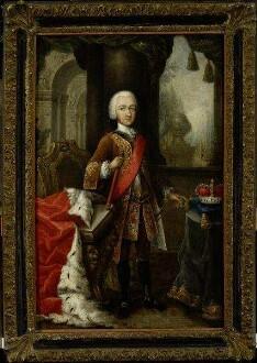 Porträt des jugendlichen Kurfürsten Carl Theodor, (1724 - 1799) Pfalzgraf von Sulzbach, Herzog von Jülich-Berg