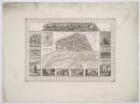 Plan und Ansichten von Magdeburg, 1:11 000, Stahlstich, 1833