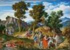Serpentara-Landschaft mit Zug der Hl. Drei Könige