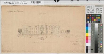 Schwelm (Schwelm) - Posthaus - Ansicht - 1910 - 1 : 200 - 31 x 56 - Pause - Buddeberg, Postbaurat - Oberpostdirektion Dortmund Nr. 1699