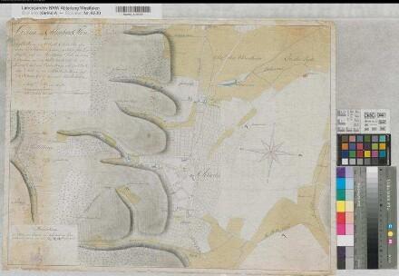 Schwelm (Schwelm) - Umgebung mit Wasserläufen - 1796 - 200 Lachter = 10,35 cm - 48 x 63,5 - kol. Zeichnung - Krüner - KSA Nr. 461