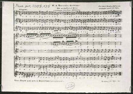 W. A. Mozarts Alphabet : Ein musikalischer Scherz